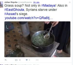Das Propagandasprachrohr nun Damaskus Moadamiya