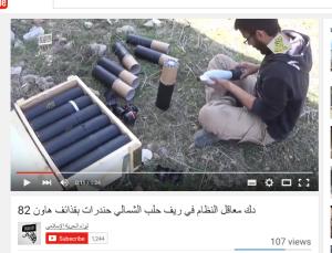Aleppo terroristen granaten