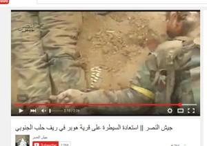 Jaish al Nasr Leichnam gelbe Armbinde