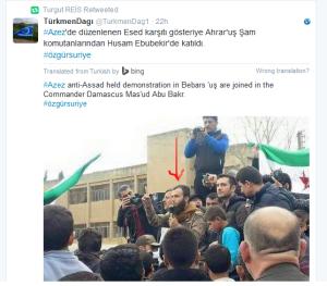 Azaz Ahrar al Sham kommandeur heizt Stimmung auf