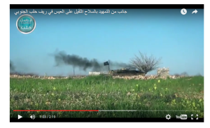 Nusra Flagge Südaleppo tal eis
