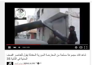 Rsheikh Maqsoud Geschossen der Sultan Murad Brigaden aket