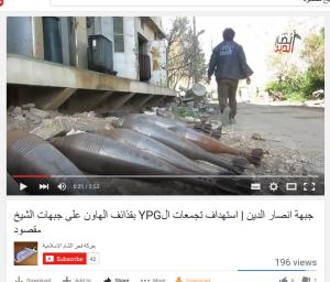 sheikh Maqsoud ansar al Dine Granaten