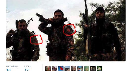 Türkische faschisten Terroristen in Syrien Latakia aleppo