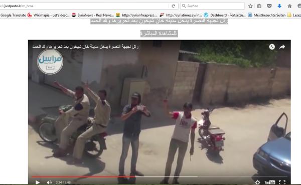 Hama Zivilschützer begrüßen Al-Kaida-Invasion