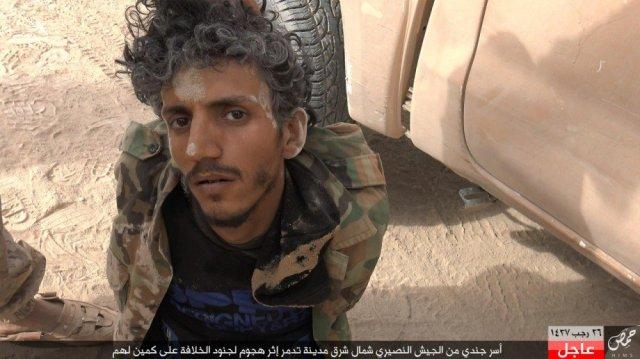 Armee Alnasiri Angriff auf ihre Kontrollpunkt nordöstlich von Palmyra