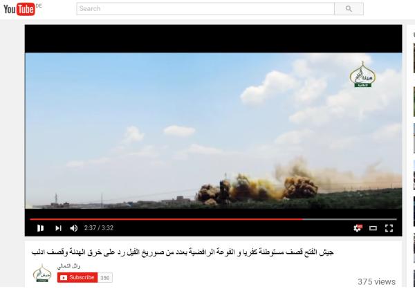 Fassbomben Kafraya einschläge