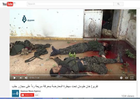 Khan Tuman Soldaten ermordet in ihrem blut