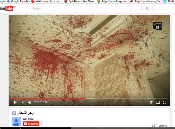 Blut bis an die decke ISIS