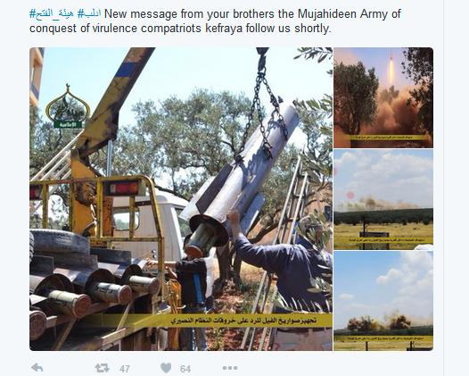 Fassbomben der Terroristen gegen Fuah und Kafraya