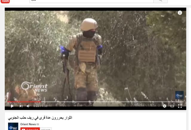 Türkischer Soldat mit Al-Kaida-blauen Bändern
