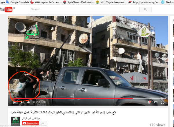 Zanki kind Aleppo